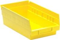 Quantum Storage Yellow Polypropylene Shelf Bin - 11 5/8 in Length - 6 5/8 in Width - 4 in Height - 02811