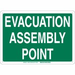 Brady B-120 Fiberglass Rectangle Green IMO Evacuation Sign - 14 in Width x 10 in Height - 139649