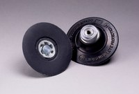 3M 14202 Hard Black Roloc TP Disc Pad - 3 in DIA - 1/4 - 20 Internal Thread Attachment