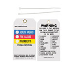 Brady 76237 Black / Blue / Red / Yellow on White Polyester Chemical Hazard Tag - 3 in Width - 5 3/4 in Height - B-851