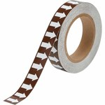 Brady 109928 White on Brown Directional Flow Arrow Tape - 1 in Width - 30 yd Length - B-946