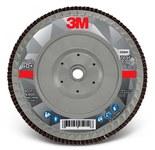 3M 769F Coated Type 27 Aluminum Oxide/Ceramic PSG Purple Flap Disc - 60+ Grit - Medium - 7 in Diameter - 05941