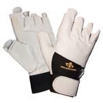 Impacto 409-30 RH Black/White Large Leather/Nylon/Spandex/Viscolas Work Glove - 40930110042