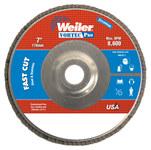 Weiler Vortec Pro Non-Woven Type 29 Zirconium Flap Disc - 80 Grit - Medium - 7 in Diameter - 7/8 in Center Hole - 31328