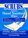 Scrubs Hand Sanitizing Wipe - 1 Wipe Packet - Lemon Fragrance - 92901
