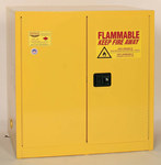 Eagle 48 gal Yellow Steel Hazardous Material Storage Cabinet - 23 in Width - 65 in Height - Bench Top - 048441-00172
