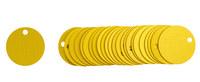 Brady 87601 Gold Circle Aluminum Blank Valve Tag - 1 1/2 in Dia. Width - B-906