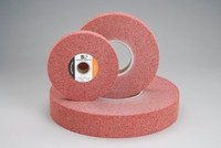 Standard Abrasives 857382 A/O Aluminum Oxide AO Buffing Wheel - Medium Grade - 8 in Diameter - 3 in Center Hole - 1 in Thickness - 37103