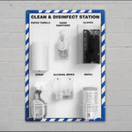 Accuform Wall Mounted Disinfect PPE Station - Pull Out by Hand Dispensing - 27 in Overall Length - 24 in Width - ACCUFORM PRF303
