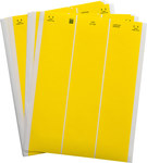 Brady Lasertab LAT-21-747-1-YL Yellow Polyester Laser Printable Label - 2.5 in Width - 1 in Height - B-747
