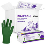 Kimtech Forest Green Large Powder Free Disposable Gloves - 4.7 mil Thick - 43446