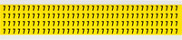Brady 34 Series 3400-7 Black on Yellow Vinyl Cloth Number Label - Indoor - 1/4 in Width - 3/8 in Height - 1/4 in Character Height - B-498