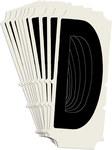 Brady Quik-Align 6450-D Black Vinyl Letter Label - Outdoor - 2 in Height - 2 in Character Height - B-933