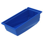 Akro-Mils Akrobin 30 lb Blue Industrial Grade Polymer Hanging / Stacking Storage Bin - 10 7/8 in Length - 5 1/2 in Width - 5 in Height - 1 Compartments - 30230 BLUE