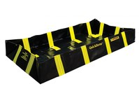 Justrite Quickberm Black/Yellow 175 gal Portable Berm - 4 ft Width - 6 ft Length - 12 in Height - 697841-15652