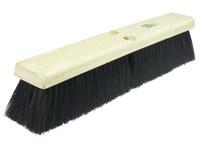 Weiler 420 Push Broom Head - Black Tampico Medium 3 in Bristle - 18 in Hardwood Block - 42007