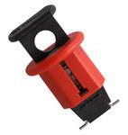 Brady Red Fiberglass Reinforced Nylon Circuit Breaker Lockout System 90844 - Pin Style - 0.95 in Width - 1.638 in Height - 662820-04633