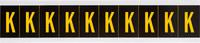 Brady 7897-K Yellow on Black Vinyl Letter Label - Indoor / Outdoor - 7/8 in Width - 2 1/4 in Height - 1 15/16 in Character Height - B-946