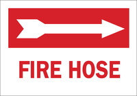 Brady B-555 Aluminum Rectangle White Fire Equipment Sign - 14 in Width x 10 in Height - 43302