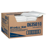 Kimberly-Clark Wypall X80 White Spunlace Wiper - 1/4 Fold - Box - 150 sheets per box - 24 in Overall Length - 13.5 in Width - 06350