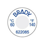Brady TIL-1-82C/180F-DIA Blue on White Polyester Temperature Indicator Label - +180 F - B-7511