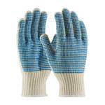 PIP Double V 36-110VV Large Cotton/Polyester General Purpose Gloves - PVC V Pattern Both Sides Coating - 36-110VV/L