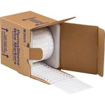 Brady PermaSleeve 3FR-187-2-WT-S-2 White Polyolefin Die-Cut Thermal Transfer Printer Sleeve - 1 in Width - 0.335 in Height - 0.062 in Min Wire Dia to 0.15 in Max Wire Dia - Double-Side Printable - B-3