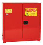 Eagle 24 gal Red Steel Hazardous Material Storage Cabinet - 43 in Width - 44 in Height - 048441-33404