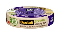 3M Scotch 2025 Greener Tan Masking/Painter's Tape - 0.94 in Width x 60.1 yd Length - 87017