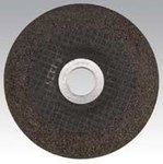 Dynabrade Standard (Type 27) Aluminum Oxide Depressed-Center Wheel - 24 Grit - Very Coarse Grade - 5 in Diameter - 7/8 in Center Hole - 79346
