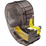 Brady Permasleeve XPS-250-CONT-YL-BK Black on Yellow Polyolefin Die-Cut Thermal Transfer Printer Sleeve - 1.015 in Width - 0.439 in Height - 0.094 in Min Wire Dia to 0.215 in Max Wire Dia - B-342