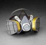 3M 5000 Series 5303 Yellow Large Thermoplastic Elastomer Half Mask Facepiece Respirator - 051138-21579