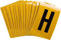 Brady Bradylite 5920-H Black on Yellow Letter Label - Outdoor - 1 in Width - 1 1/2 in Height - 1 in Character Height - B-997