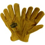 West Chester IronCat Tan Large Cowhide Leather Welding Glove - Keystone Thumb - 9405/L