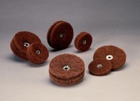 Standard Abrasives Buff and Blend 724290 GP A/O Aluminum Oxide AO Circle Buff - 4 in Diameter - 1/4-20 Center Hole - 37179