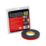 3M 5952 Black VHB Tape - 1 in Width x 36 yd Length - 45 mil Thick - 74121