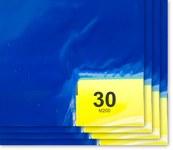 Purus PS 2430 Blue Polyethylene Frameless Tacky Sheet Mat - 24 in Width - 30 in Length - 30 Sheets Per Mat - PS 2430 34 B