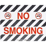Brady Toughstripe B-534 Polyester Rectangle Black / White No Smoking Sign - 18 in Width x 14 in Height - Laminated - 104500