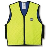 Ergodyne Chill-Its 6665 Yellow Large Polymer Cooling Vest - Soak in Cold Water - 720476-12534