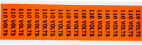 Brady 44301 Black on Orange Rectangle Vinyl Cloth Conduit / Voltage Marker - 2 1/4 in Width - 1/2 in Height - B-498