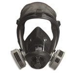 Sperian Survivair Opti-Fit S-Series Black Large Silicone Full Facepiece - 5-Point Suspension - 797402-010422