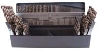 Cleveland 2213 NAS 907 TYPE J Jobber Drill - Split 135° Point - Spiral Flute - Right Hand Cut - M42 High-Speed Steel - 8% Cobalt - C70367