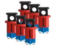 Brady Red Fiberglass Reinforced Nylon Circuit Breaker Lockout System 90848 - Pin Style - 0.95 in Width - 662820-04637