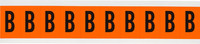 Brady 6570-B Black on Orange Vinyl Letter Label - Indoor / Outdoor - 7/8 in Width - 2 1/4 in Height - 1 15/16 in Character Height - B-946