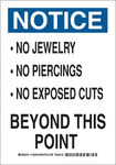 Brady B-555 Aluminum Rectangle White Personal Hygiene Sign - 7 in Width x 10 in Height - 128454