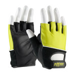 PIP Maximum Safety 122-AV70 Black/Yellow Large Leather Lifting Gloves - 122-AV70/L