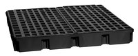 Eagle Black High Density Polyethylene 10000 lb 60 1/2 in Spill Pallet - Supports 4 Drums - 51 1/2 in Width - 52 1/2 in Length - 6 1/2 in Height - 048441-00489