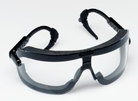 3M Fectoggles 16408-00000-10 Medium Polycarbonate Safety Goggles Clear Lens - Black Frame - Non-Vented - 078371-62322