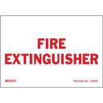 Brady Bradylite 20999LS Red on White Fire Extinguisher Label - 5 in Width - 3.5 in Height - B-997