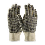 PIP 37-C110PDD Black/White Large Cotton/Polyester General Purpose Gloves - PVC Dotted Both Sides Coating - 10 in Length - 37-C110PDD/L